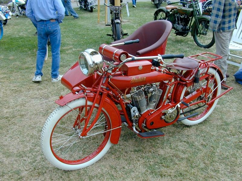 Indian with sidehack, about 1914